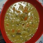 Recept overheerlijke dikke snert van erwten en taro