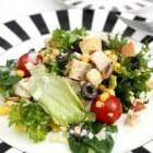 Een gezonde, koolhydraatarme salade