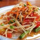Thaise keuken – kokosgarnalensoep en papaja salade