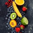 Plattekaaspudding, appelvla en fruitpudding