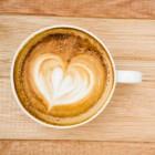 Een aangekleed kopje koffie