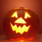 Halloween kaastaart met pompoen